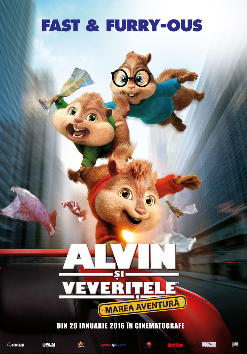 Afis 2D Alvin si veveritele: marea aventura (Alvin and the chipmunks: the road chip)